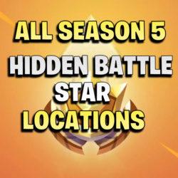 all fortnite hidden battle star locations season 5
