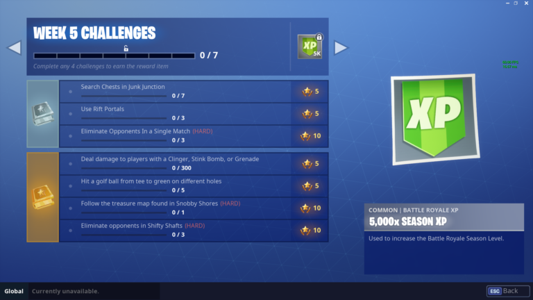 fortnite week 5 challenges