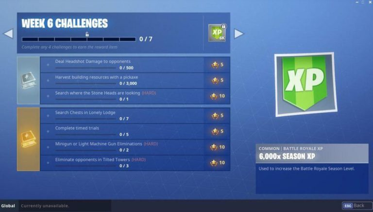 Fortnite week 6 challenges.