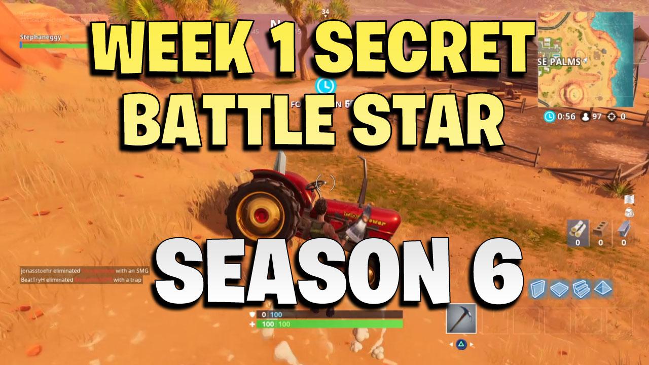 Fortnite Season 6 Week 1 Secret Battle Star Games Garage