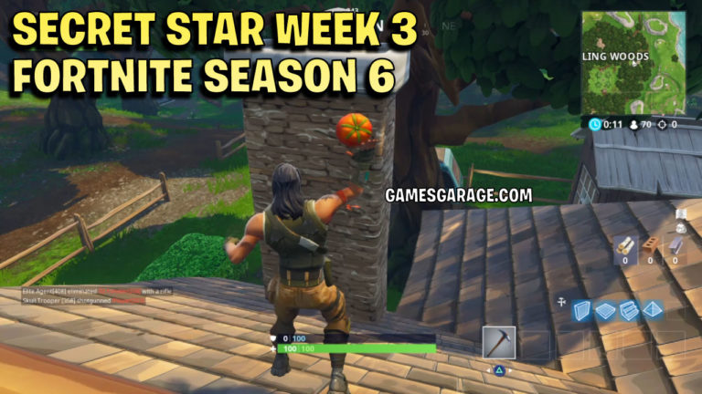 Week 3 secret star located on chimney in Wailing Woods.