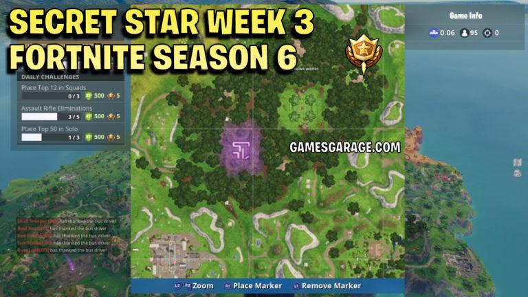 Week 3 Secret Battle Star Games Garage