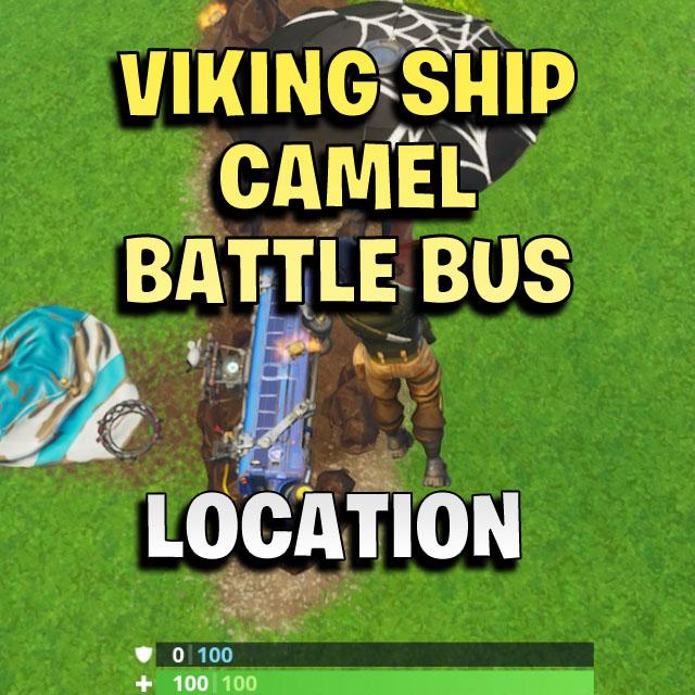 Visit A Viking Ship A Camel And A Crashed Battle Bus Fortnite