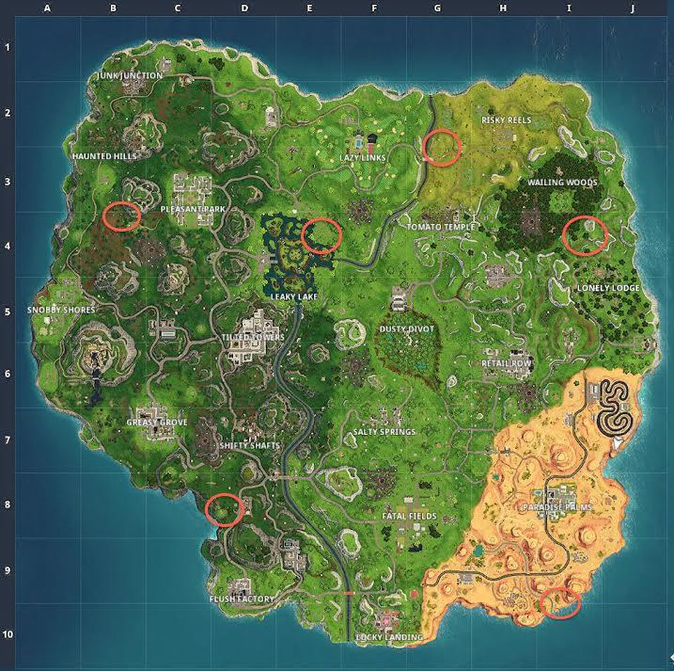 Clay pigeon locations