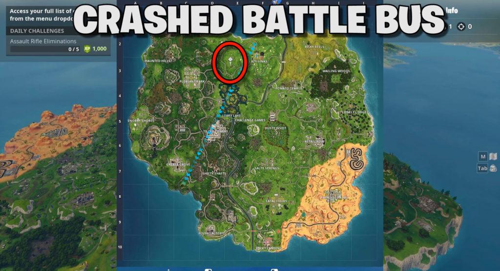 Crashed battle bus location