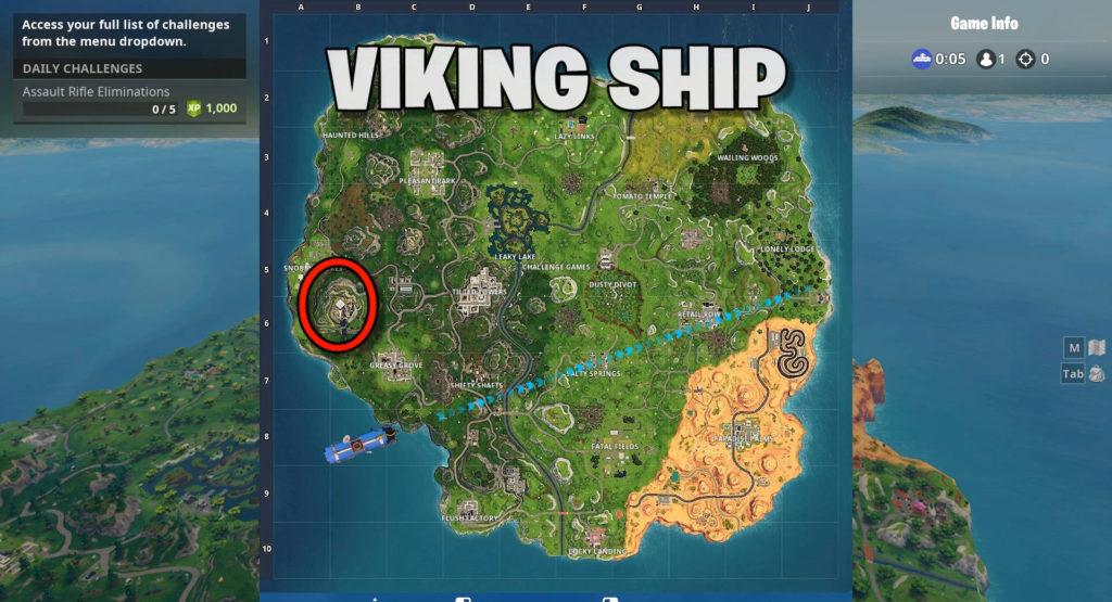 Viking ship location