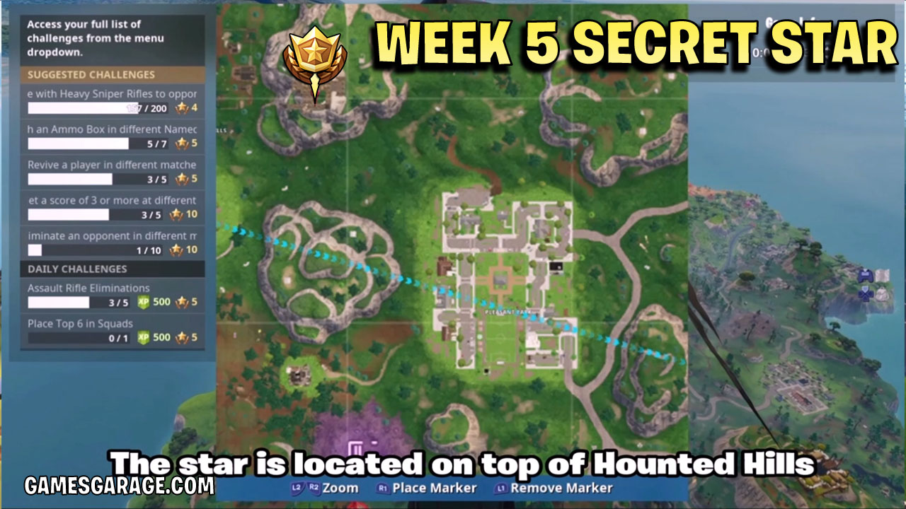 The week 5 secret star is located on top of this mountain.