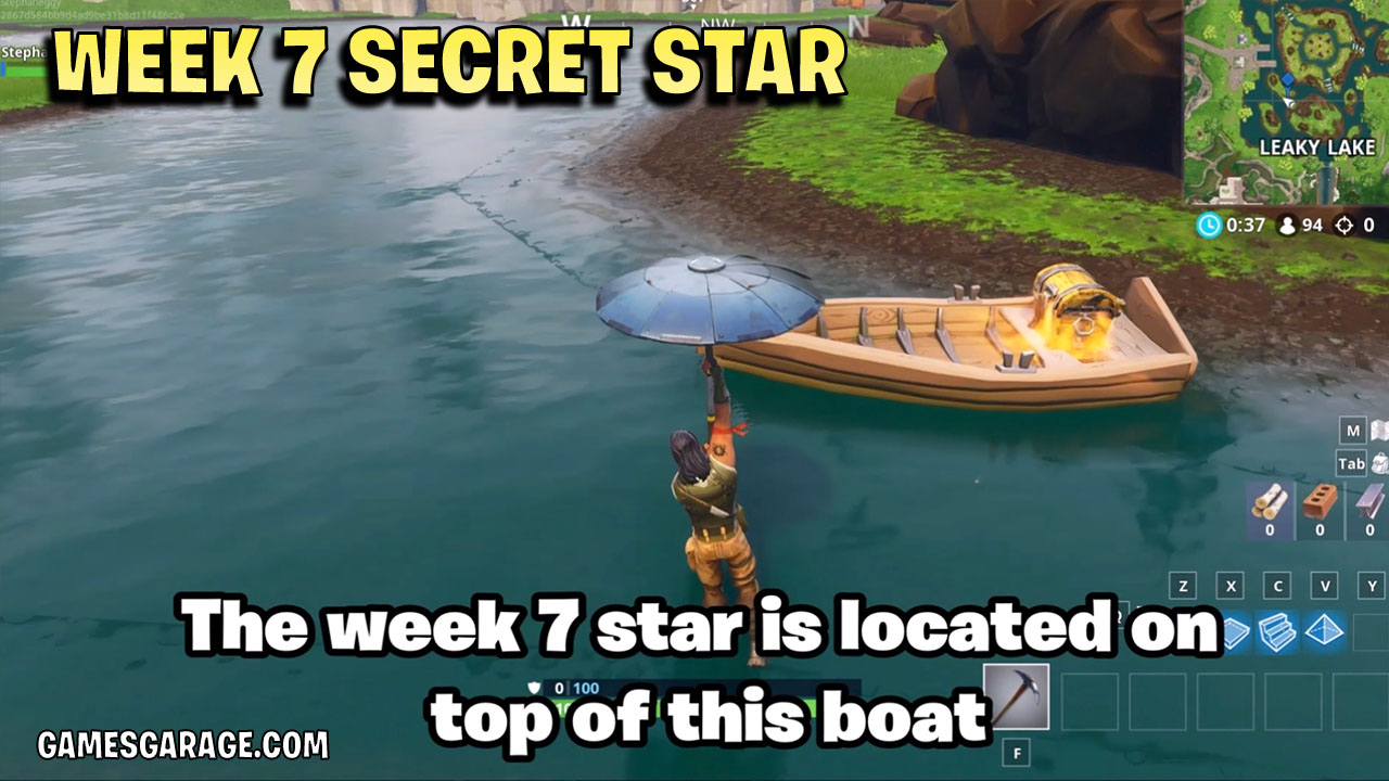 The week 7 secret star is located on top of the front of this boat.
