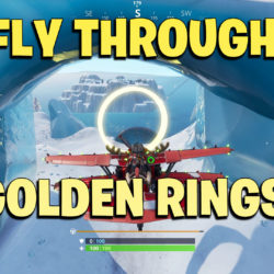 Fly through Golden Rings in an X-4 Stormwing Plane