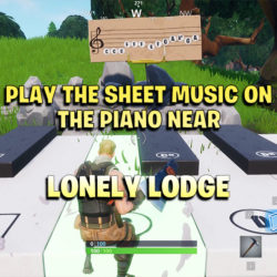 Play the Sheet Music on the Pianos near Lonely Lodge