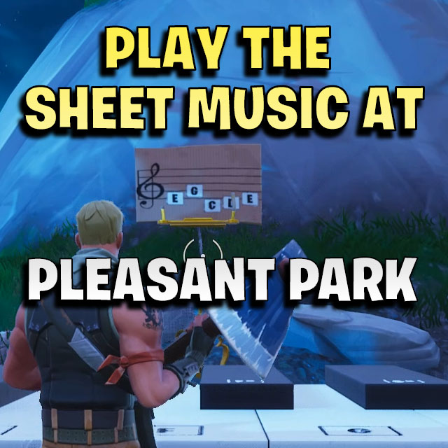 Play The Sheet Music On The Pianos Near Pleasant Park