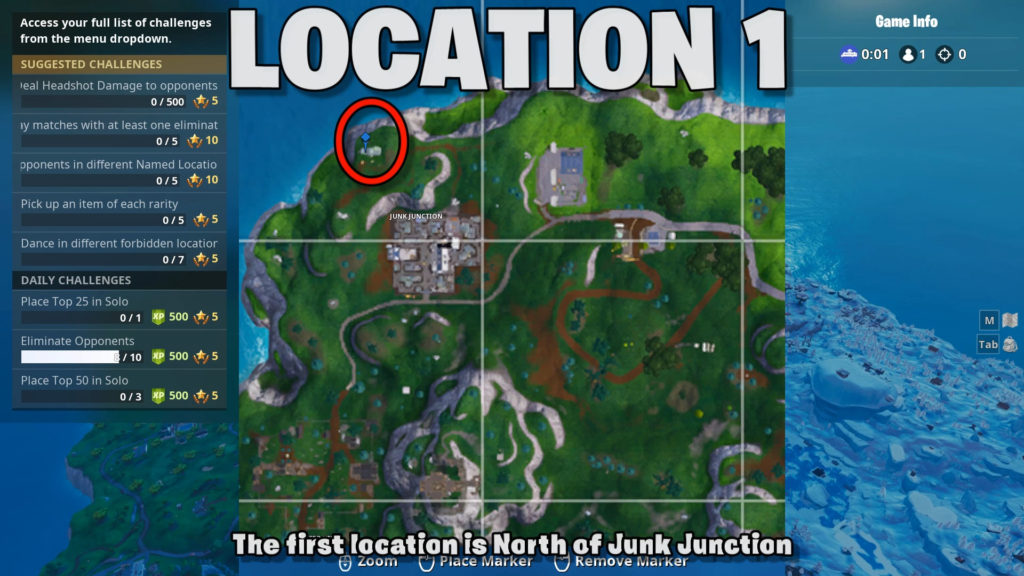 location 1 - north of junk junction