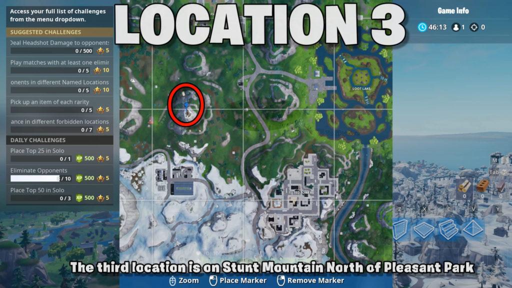 location 3 - stunt mountain