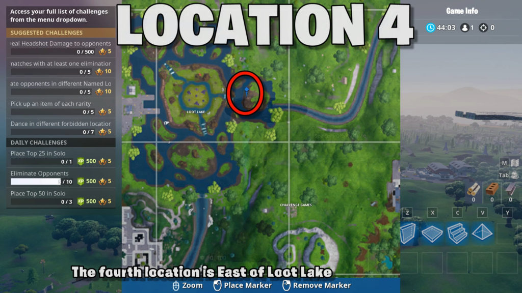 location 4 - east of loot lake