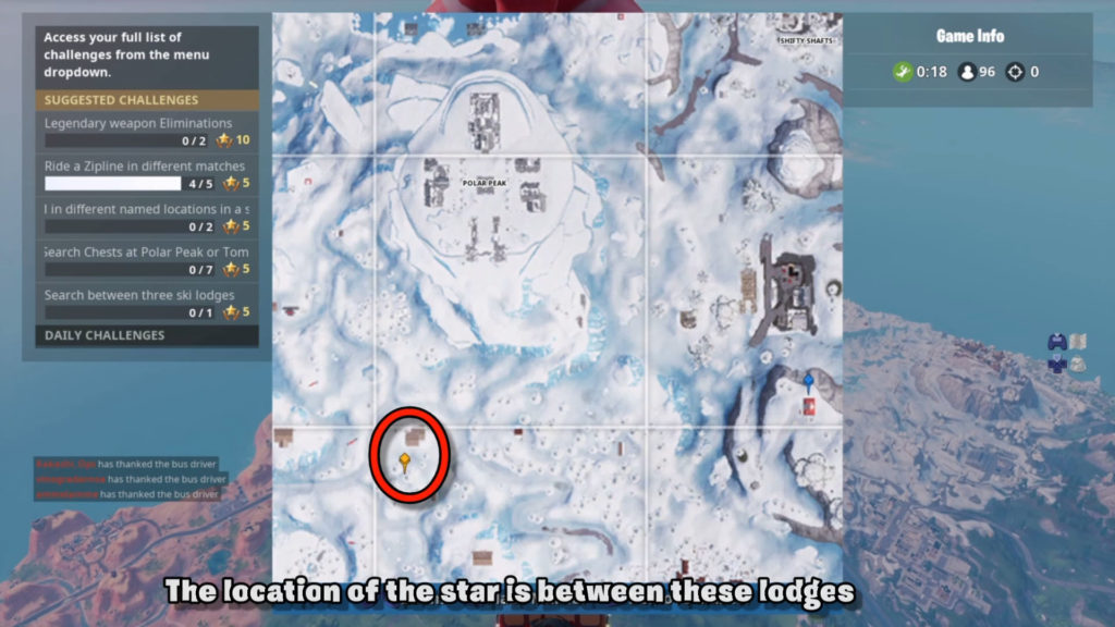 search between 3 ski lodges map location