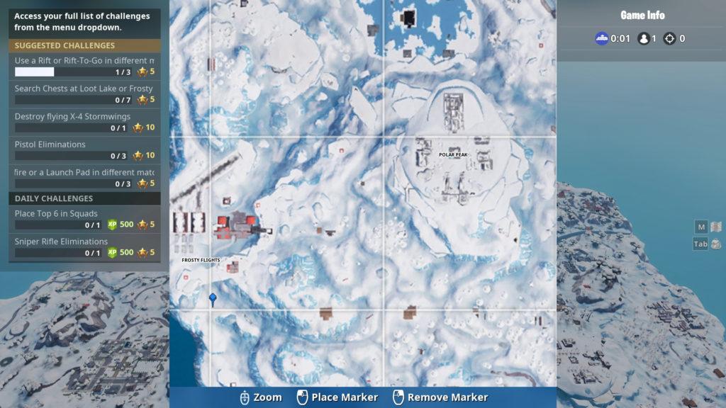 fortnite banner week 8 map location