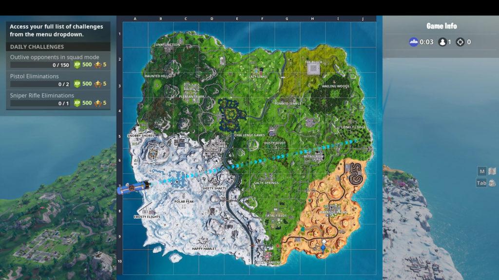 secret banner week 6 map location