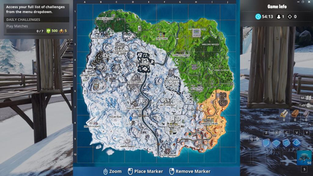 secret battle star week 9 map location