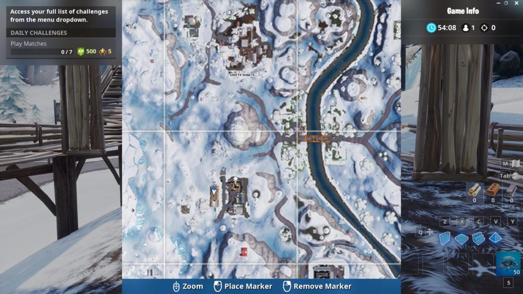 secret battle star week 9 map location zoomed