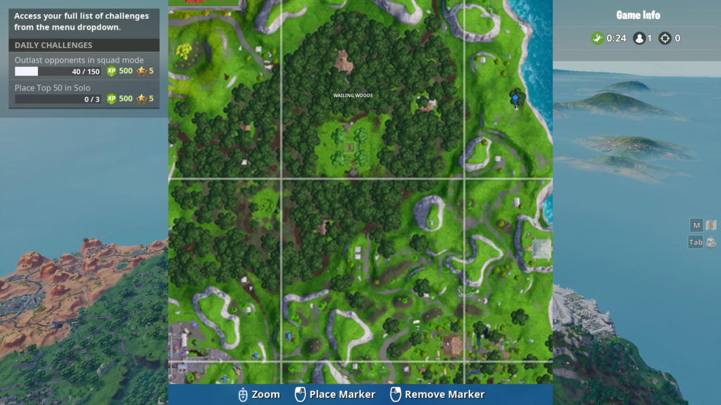 shooting gallery map location wailing woods