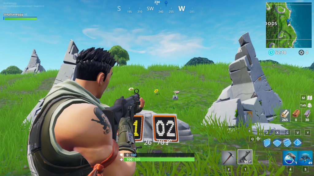 the shooting gallery in wailing woods