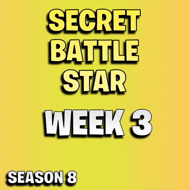 Fortnite secret battle star week 3 season 8