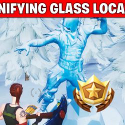Magnifying glass location - treasure map - Fortnite season 8 week 3