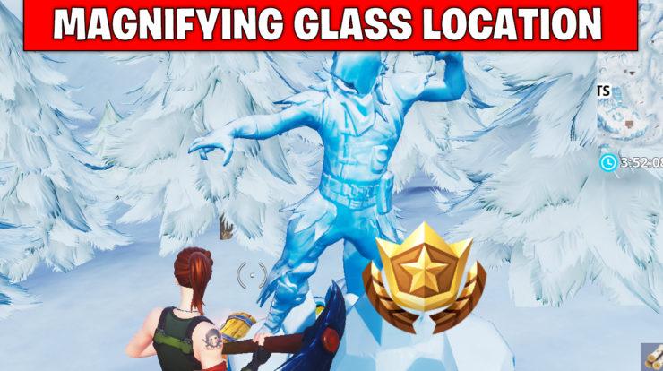 Magnifying glass location - treasure map - Fortnite season 8 week 3