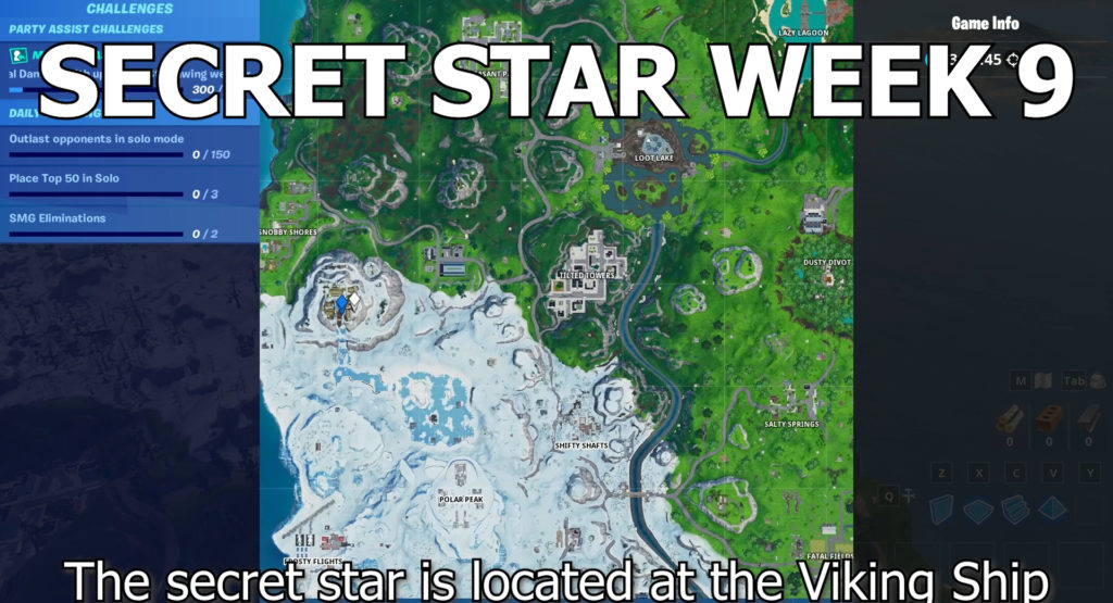 Secret star week 9 map location