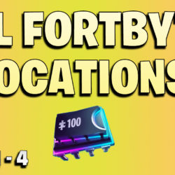 All Fortbyte locations week 1 to 4 - Fortnite season 9