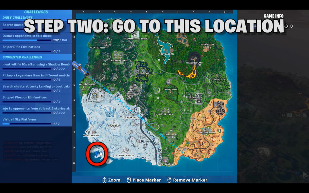 fortbyte 36 location - Accessible by Sentinel on a Frozen Island