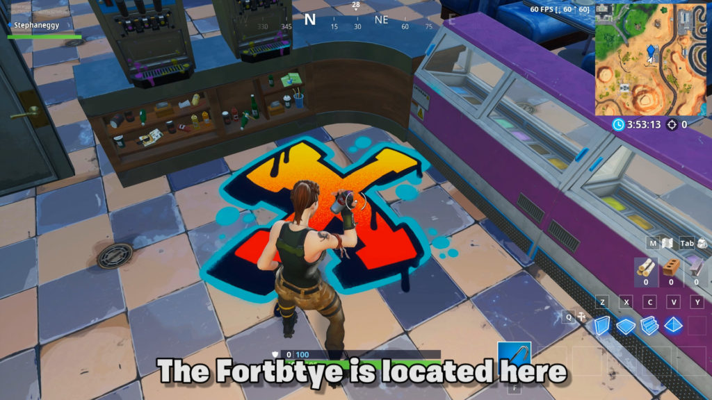 Fortbyte 6 exact location in shop