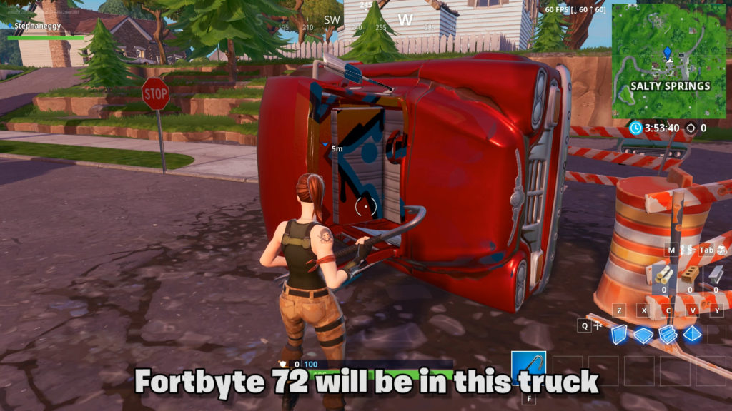 Fortbyte 72 location in the red truck