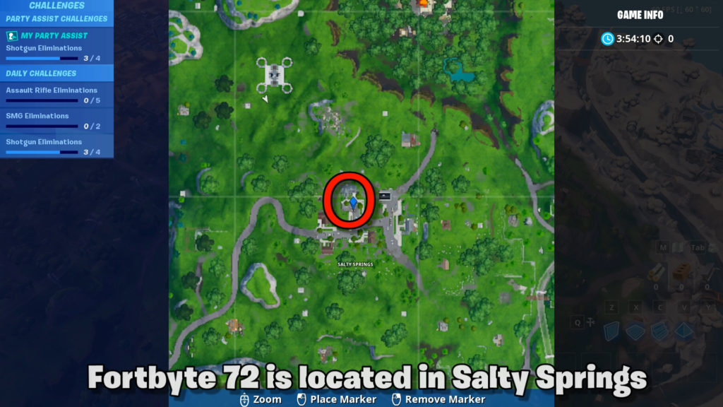 Map location of fortbyte 72
