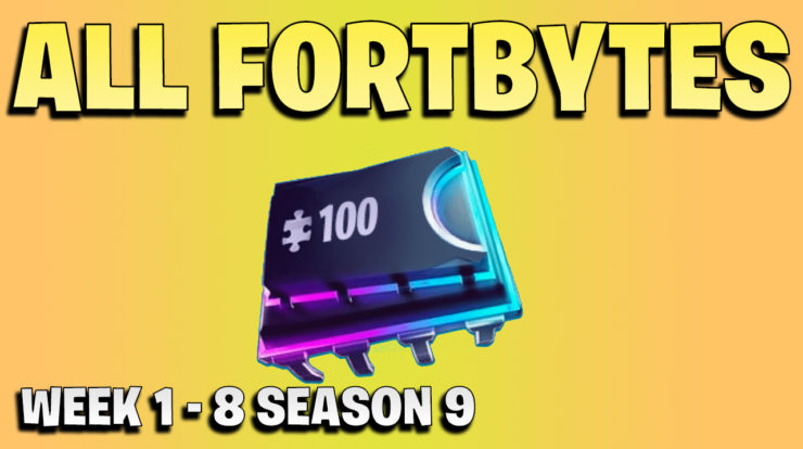 All Fortbytes week 1 - 8 - Fortnite Season 9