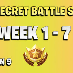 All secret battle stars week 1 to 7 - Fortnite Season 9