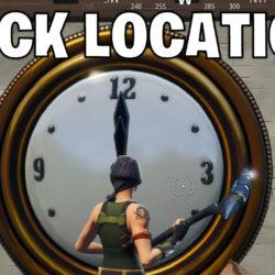 Fortnite clock locations - Week 8 challenge
