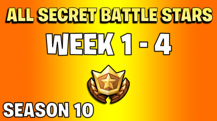 All secret battle stars week 1 to 4 - Fortnite Season 10