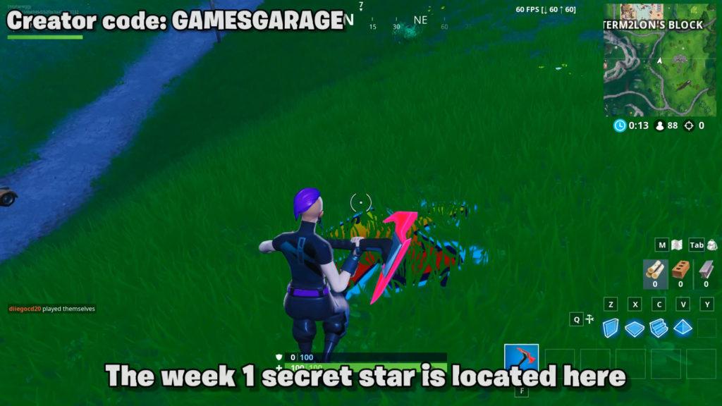 Fortnite season x week 1 secret star location