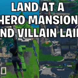Land at a run down Hero Mansion and an abandoned Villain Lair