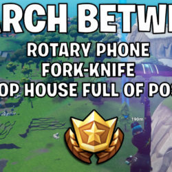 Search between a rotary phone, a fork-knife, and a hilltop house full of Carbide and Omega posters