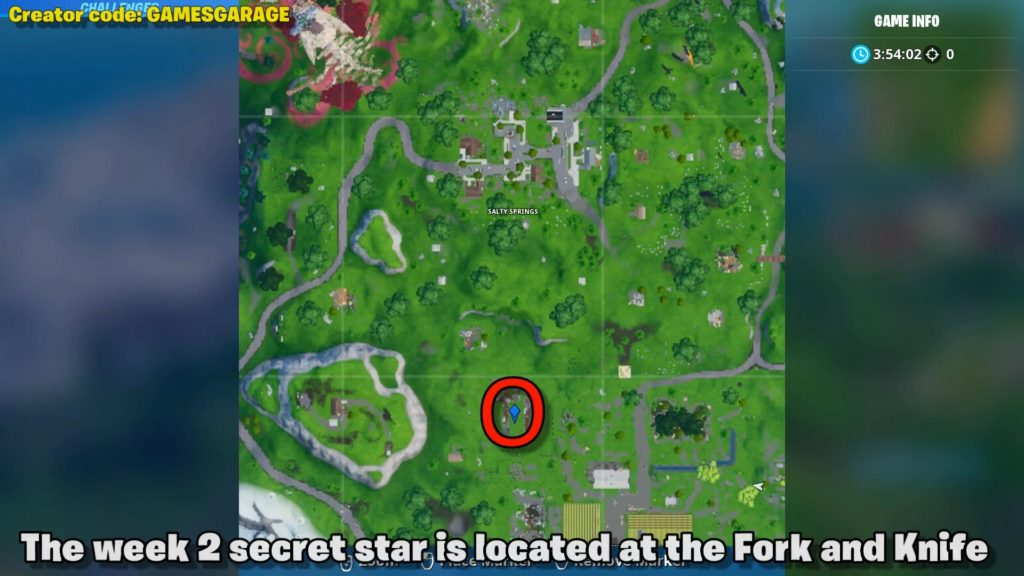 Secret star week 2 map location season x