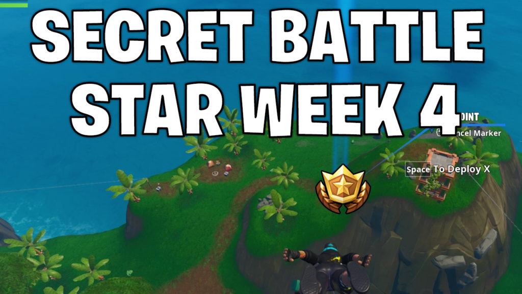 Secret battle star week 4 - Fortnite season 10