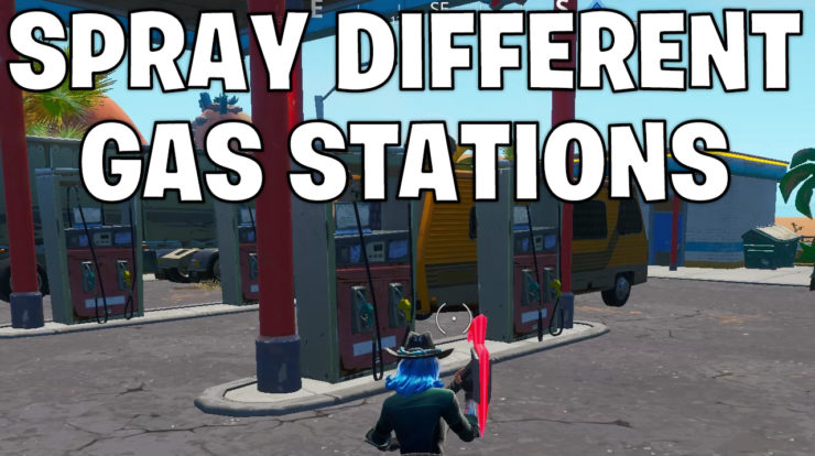 Spray different Gas Stations - Gas station locations Fortnite
