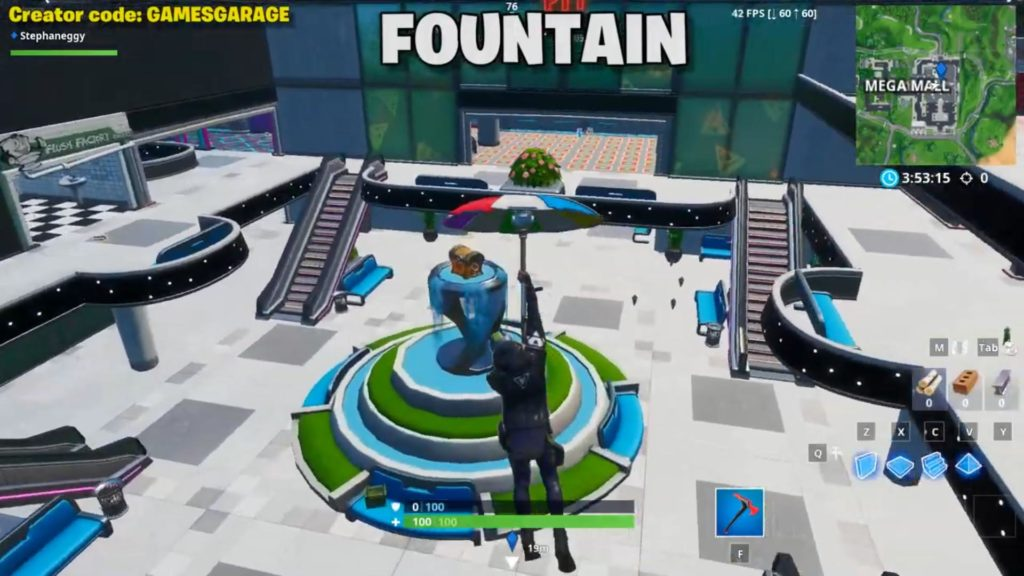Spray location 1 - fountain
