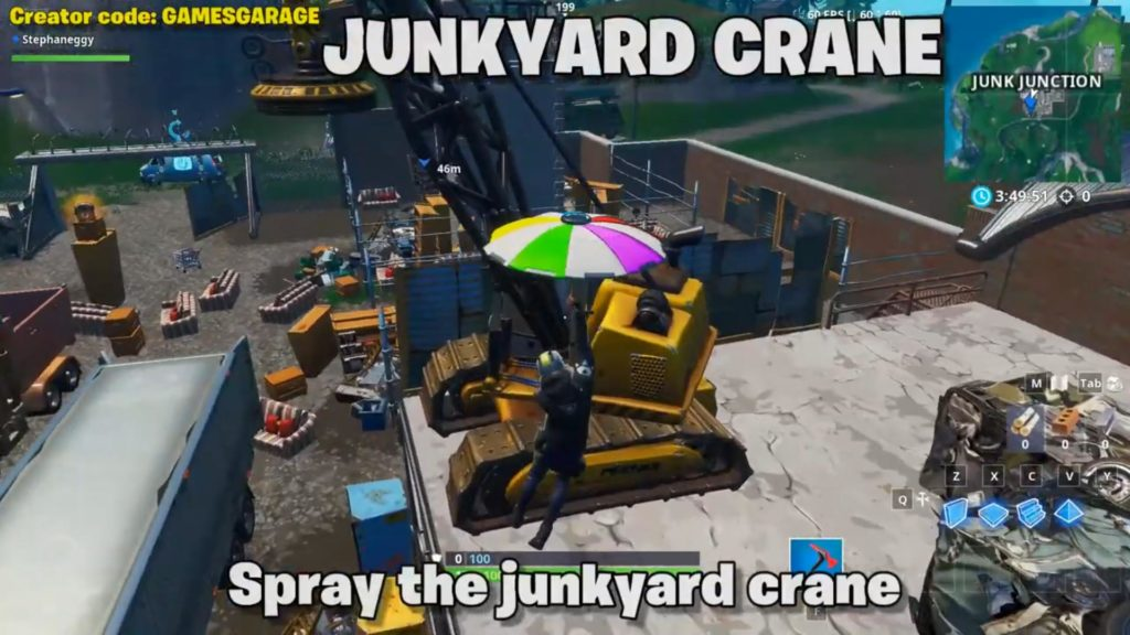 Spray location 2 -Junkyard crane