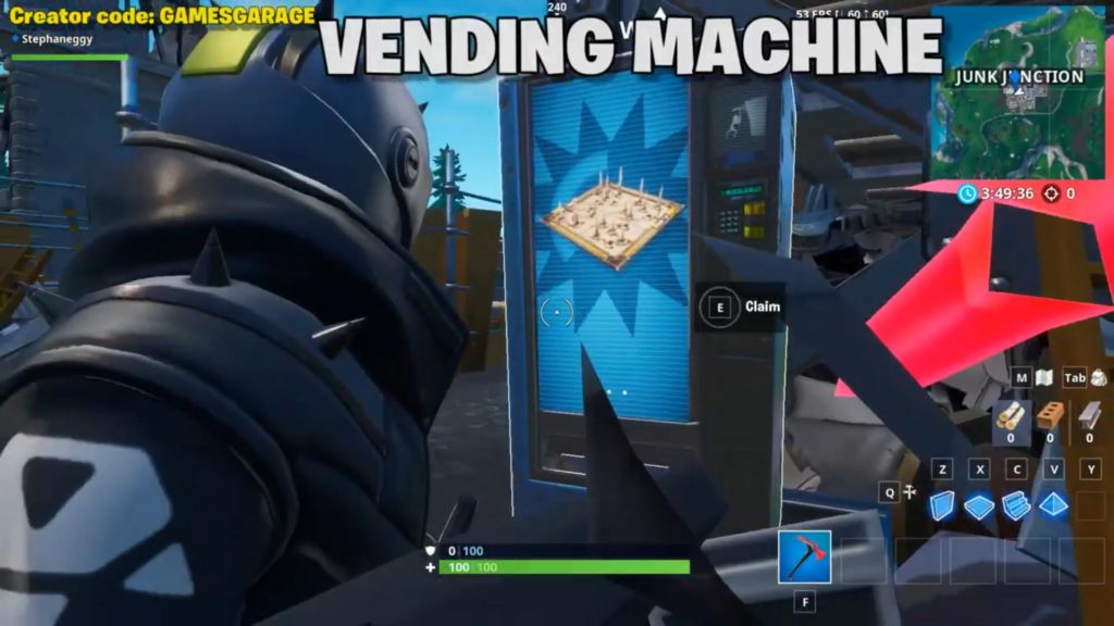 Spray location 3 -vending machine