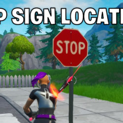 all stop sign locations - Fortnite season 10 week 1