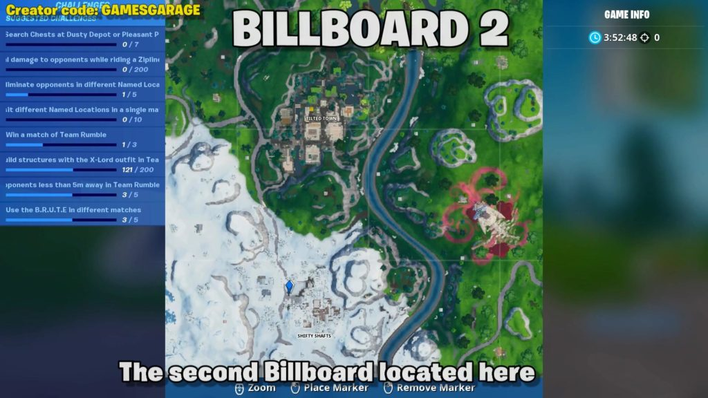 billboard map location 2 - shifty shafts