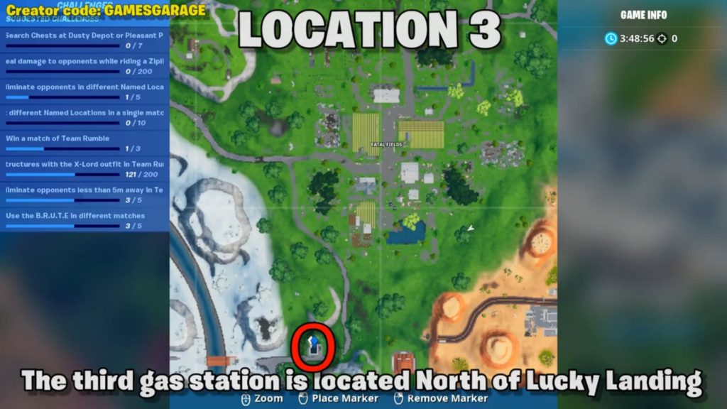spray different gas station  map location 3